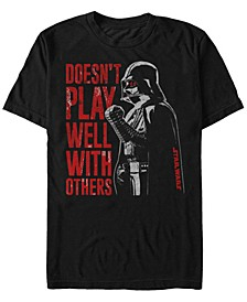 Men's Classic Darth Vader Doesn't Play Well With Others Short Sleeve T-Shirt
