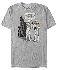 Men's Classic Nice Suit Darth Vader Comic Humor Short Sleeve T-Shirt