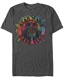 Star Wars Men's Classic Tie Dye Darth Vader Dark Side Logo Short Sleeve T-Shirt
