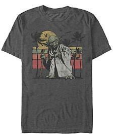 Star Wars Men's Classic Yoda Island Short Sleeve T-Shirt