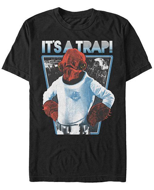 Star Wars Men's Ackbar It's A Trap Short Sleeve T-Shirt