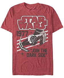 Star Wars Men's Classic Join The Dark Side Quote Short Sleeve T-Shirt