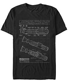 Star Wars Men's Classic Lightsaber Schematics Short Sleeve T-Shirt