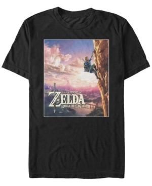 Nintendo Men's Legend of Zelda Link Rock Climbing Short Sleeve T-Shirt