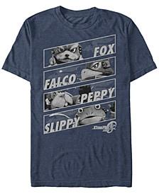 Men's Star Fox Team Group Panels Short Sleeve T-Shirt