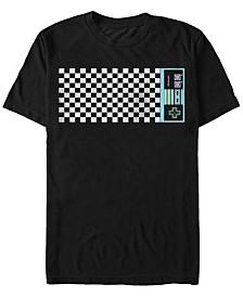 Nintendo Men's Classic Checkered Retro NES Controller Short Sleeve T-Shirt
