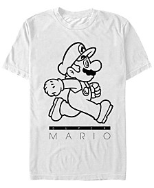 Nintendo Men's Super Mario On The Go Short Sleeve T-Shirt