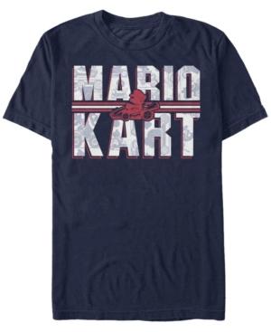 Nintendo Men's Mario Kart Shadowed Logo Short Sleeve T-Shirt