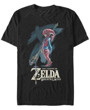 Nintendo Men's Legend of Zelda Mipha Paint Short Sleeve T-Shirt