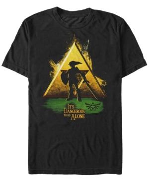 Nintendo Men's Legend of Zelda It's Dangerous Triforce Logo Short Sleeve T-Shirt
