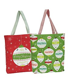 Ornaments Printed Totes Set of 2