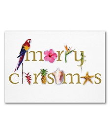 Masterpiece Tropical Merry Christmas Holiday Boxed Cards