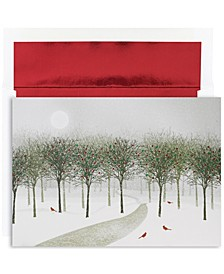 Wintry park Holiday Boxed Cards, 16 Cards and 16 Envelopes