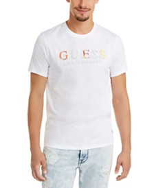 GUESS Men's Embossed Logo Graphic T-Shirt