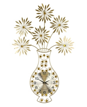 Three Star Vase and Flower Wall Clock