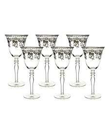 Wine Glasses with Stem 6 Piece