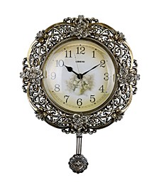 Floral Round Wall Clock
