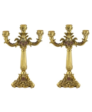Three Star Pair of Candle Holders