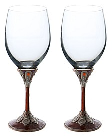2 Piece Wine Glasses