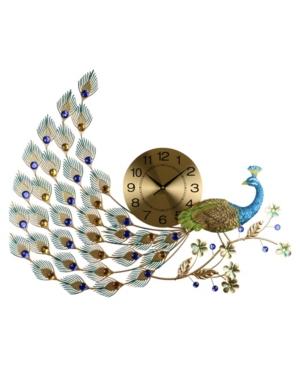 Three Star Glorious Peacock Wall Clock