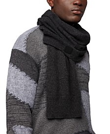 BOSS Men's Kotaren Structured-Knit Scarf