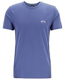 BOSS Men's Tee Curved Cotton Jersey T-Shirt