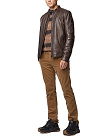 BOSS Men's Leather Biker Jacket