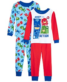 AME Toddler Boys 4-Pc. Cotton PJ Masks Pajamas Set