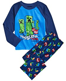 AME Little & Big Boys 2-Pc. Minecraft Pajamas Set