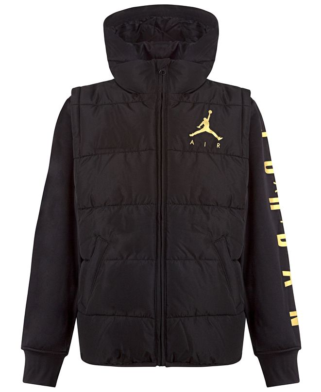 Jordan Little Boys Layered-Look Hybrid Jacket, Created for Macy's