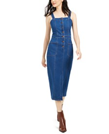 OAT Fitted Denim Button Dress