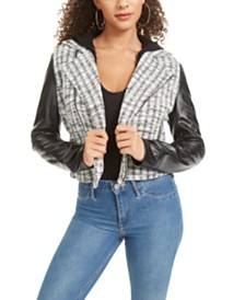 Material Girl Juniors' Faux-Leather Moto Jacket, Created for Macy's