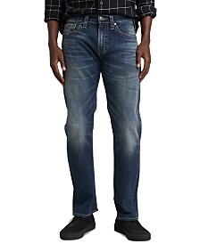Silver Jeans Co. Men's Eddie Relaxed-Tapered Fit Stretch Jeans