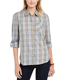 Check-Print Button-Down Shirt