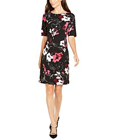 Petite Printed Sheath Dress, Created for Macy's