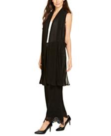Alfani Pleated Mesh Vest, Created for Macy's