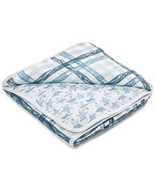 Baby & Toddler Boys Retro Printed Cotton Blanket