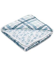 aden by aden + anais Baby & Toddler Boys Retro Printed Cotton Blanket