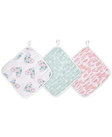 Baby & Toddler Girls 3-Pk. Briar Rose Cotton Washcloths