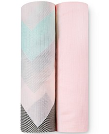 Baby Girls 2-Pack Ziggy Silky Soft Swaddles
