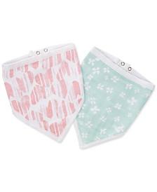 aden by aden + anais Baby Girls 2-Pk. Cotton Printed Bandana Bibs