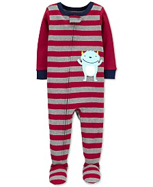 Carter's Baby Boys Cotton Footed Monster Pajamas