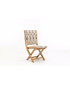 Boraam Misty Collection Patterned Folding Chair