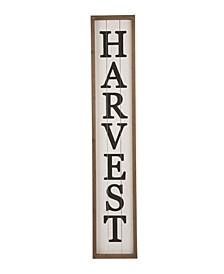 Wooden Harvest Porch Sign