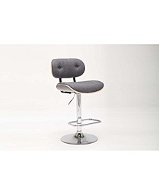 Smuk Collection Bentwood Adjustable Swivel Stool