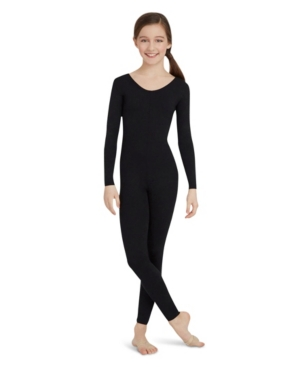 Capezio Big Girls Long Sleeve Unitard