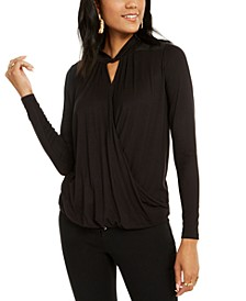 Twist-Neck Crossover Top, Created for Macy's