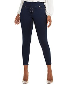 Lace-Up Skinny Jeans, Created for Macy's