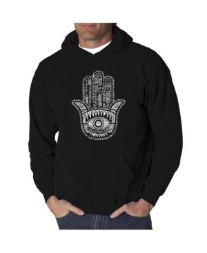 La Pop Art Men's Word Art Hooded Sweatshirt - Hamsa