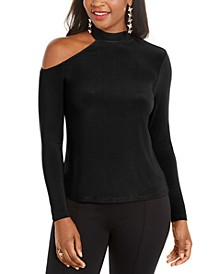 Cold-Shoulder Mock-Neck Top, Created for Macy's